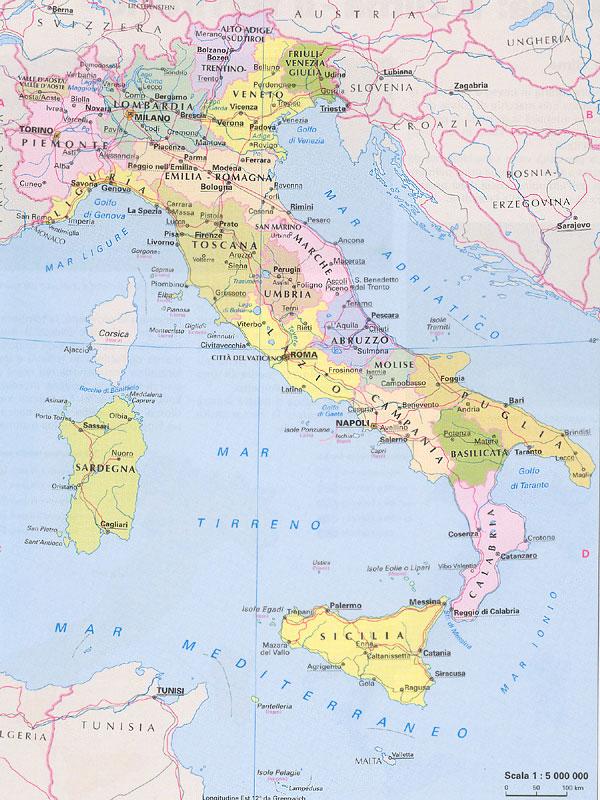 Италия карта подробная италия карта
